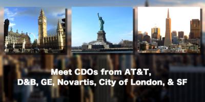 AT&T、D&B、GE、Novartis、ロンドン、サンフランシスコのCDOに会いましょう